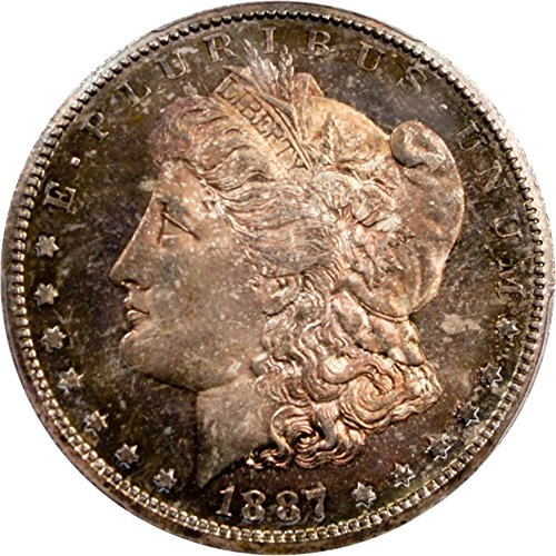 1887 S Morgan Dollars Dollar MS65 PCGS\CAC
