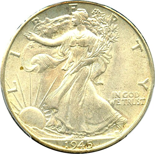 1945 P Walking Liberty Halves Half Dollar MS63 PCGS