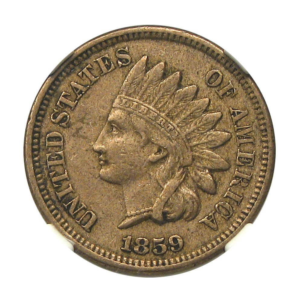 old coin for sale: 1859 Indian Head Cent XF-40 NGC BMCA