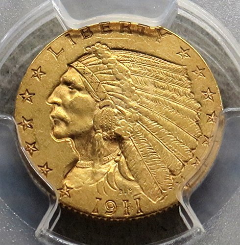 Rare coin for sale: 1911 D Indian Head Two and a half Dollar NGC AU58