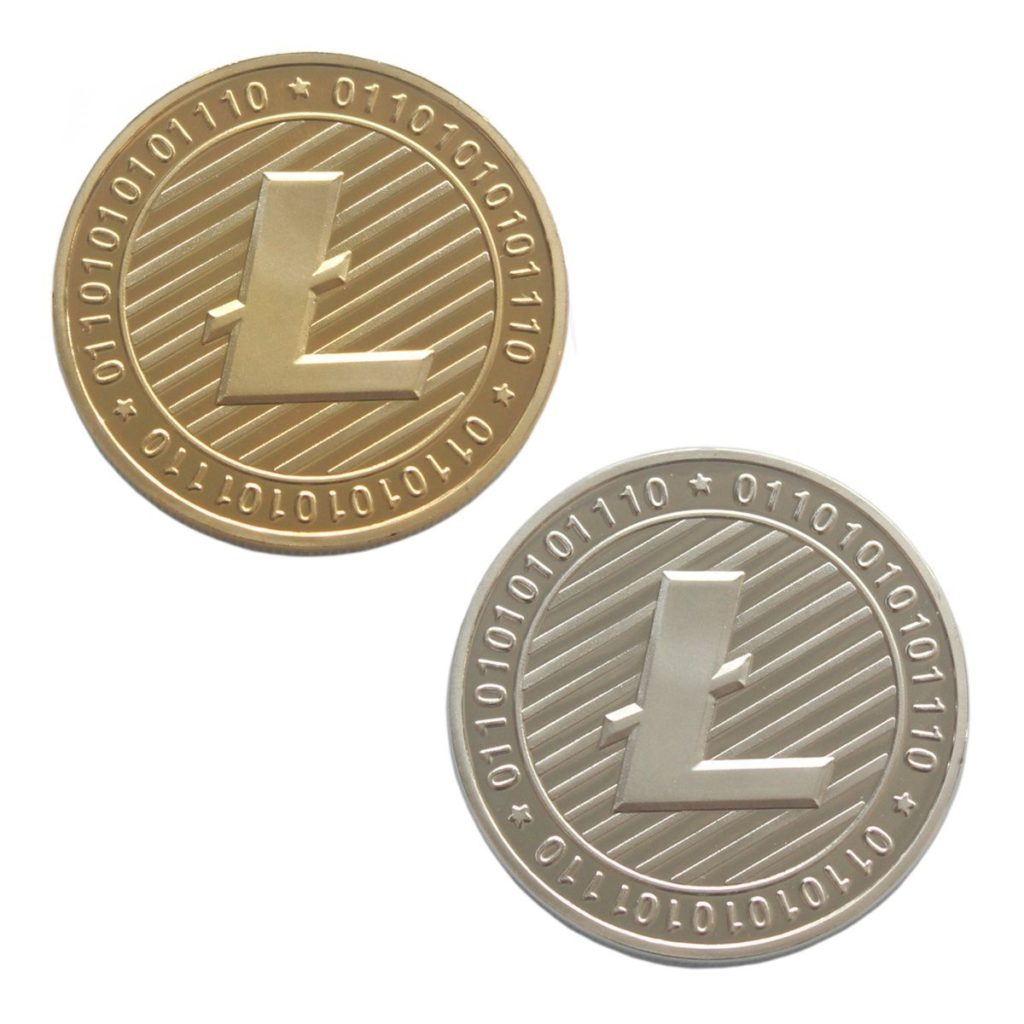 Gold and Silver Plated Litecoin Deluxe Collector's Set
